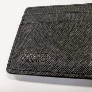 Versace Bags - Versace Saffiano Slim Leather Credit Card Wallet